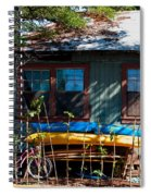 Kayaks Surfboards And Bikes - The Good Life Spiral Notebook
