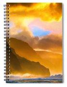Ke'e Beach Sunset Spiral Notebook