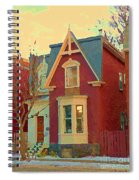 Keep A Light In The Window Til I Come Home Again Winter House Pointe St Charles City Scene Cspandau  Spiral Notebook