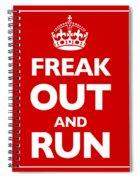 Keep Calm And Carry On Parody Red Spiral Notebook