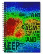 Keep Calm And Chill Spiral Notebook