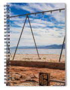 Keep Out No Playing Here Swing Set Playground Spiral Notebook