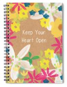 Keep Your Heart Open Spiral Notebook