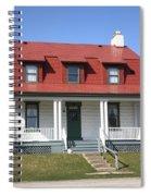 Keeper's House - Presque Isle Light Michigan Spiral Notebook
