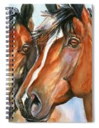 Horse Painting Keeping Watch Spiral Notebook