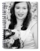 Keira In Black And White Spiral Notebook