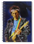 Keith Richards Of Rolling Stones Spiral Notebook
