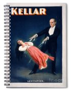 Kellar Levitation Vintage Magic Poster Spiral Notebook