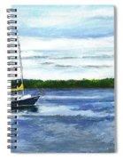 Kellogg's Bay Vt View Of Lake Champlain And Camel's Hump Spiral Notebook