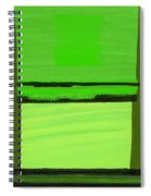 Kensington Gardens Series Green On Green Oil On Canvas Spiral Notebook