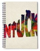 Kentucky Typographic Watercolor Map Spiral Notebook