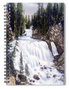 Kepler Cascades Yellowstone National Park Spiral Notebook