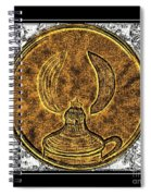Kerosene Lamp - Brass Etching Spiral Notebook