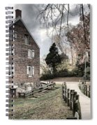 Kerr Grist Mill Stormy Skies Panorama Spiral Notebook