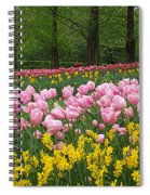Keukenhof Gardens Panoramic 15 Spiral Notebook
