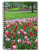 Keukenhof Gardens Panoramic 49 Spiral Notebook