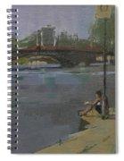 Kew Bridge, 2009 Oil On Canvas Spiral Notebook
