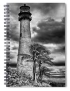 Key Biscayne Fl Lighthouse Black And White Img 7167 Spiral Notebook