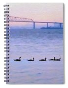 Key Bridge And Waterfowl Spiral Notebook