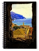 Key Hole View Of Dubrovnik 2 Spiral Notebook