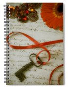 Key On Red Ribbon Spiral Notebook