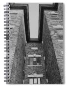 Key-stoning In Black And White Spiral Notebook