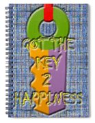 Key To Happiness Spiral Notebook