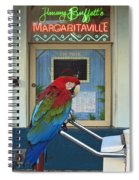 Key West - Parrot Taking A Break At Margaritaville Spiral Notebook