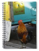 Key West - Rooster Making A Living Spiral Notebook