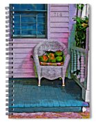 Key West Coconuts - Colorful House Porch Spiral Notebook