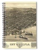 Key West Florida Map 1884 Spiral Notebook