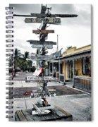 Key West Wharf Spiral Notebook