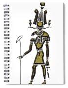 Khensu - God Of Ancient Egypt Spiral Notebook