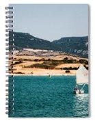 Kid Sailing On A Lake Spiral Notebook