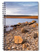 Kielder Dam In Low Sun Spiral Notebook