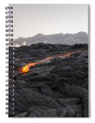 Kilauea Volcano 60 Foot Lava Flow - The Big Island Hawaii Spiral Notebook
