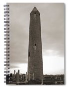 Kilmacdaugh Tower- Antique Black And White Spiral Notebook