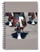 Kilts On Parade Spiral Notebook