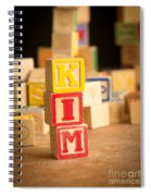 Kim - Alphabet Blocks Spiral Notebook