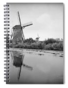 Kinderdijk In Black And White Spiral Notebook