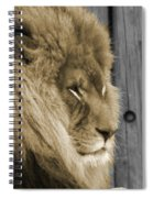 King In Sepia Spiral Notebook