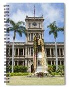 King Kamehameha In Leis Spiral Notebook
