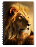 King Lion Of Africa Spiral Notebook
