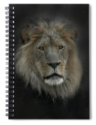 King Of Beasts Portrait Spiral Notebook