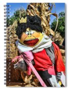 King Of Hearts Scarecrow By Diana Sainz Spiral Notebook