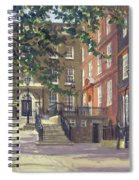 Kings Bench Walk, Inner Temple Oil On Canvas Spiral Notebook