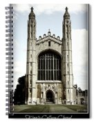 King's College Chapel - Poster Spiral Notebook