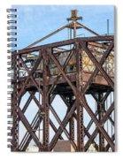 Kinnickinnic River Swing Bridge  4 Spiral Notebook