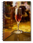 Kir Royale In A Champagne Glass Spiral Notebook