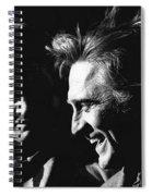 Kirk Douglas Laughing Johnny Cash Old Tucson Arizona 1971 Spiral Notebook